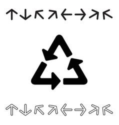 arrow icon set collection vector image