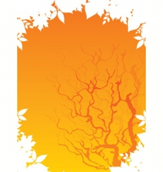 autumn back vector image