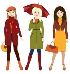 Autumn Girls vector image