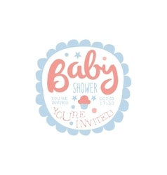 Baby shower invitation design template with vector
