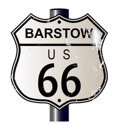 Barstow route 66 sign vector