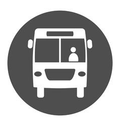 bus round icon vector image vector image
