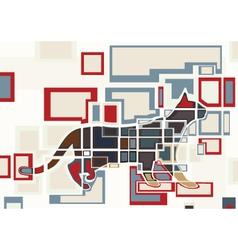 Cat blocks vector image vector image