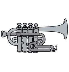 Classic concert trumpet vector image vector image