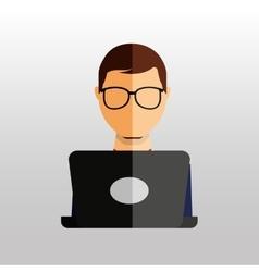 computer user design vector image vector image