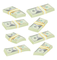 dollar stacks money banknotes cash symbol vector image vector image