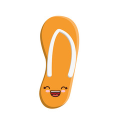 Flip flop icon vector