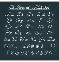 Hand drawn chalkboard alphabet vector image vector image