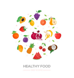 Healthy food - modern colorful vector