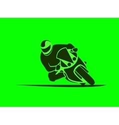 Motorcycle sport racer vector
