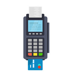Pos terminal icon in flat style vector