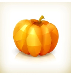 Pumpkin triangulation icon vector image vector image