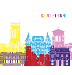 saint etienne skyline pop vector image vector image