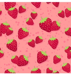Strawberry seamless pattern pink3 vector