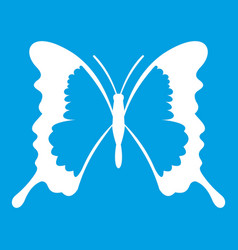 Swallowtail butterfly icon white vector