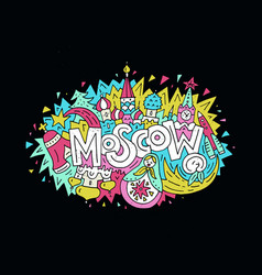 Travel to moscow concept vector