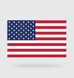 Usa flag cross stitch isolated on background vector