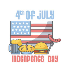 usa independence day design vector image vector image