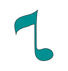 White background with sign eighth note vector