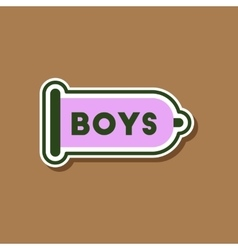 paper sticker on stylish background of gays condom vector image