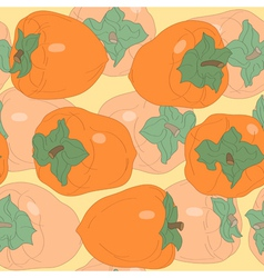 Seamless pattern with persimmon vector