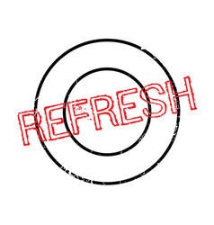 Refresh rubber stamp vector