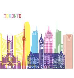 Toronto v2 skyline pop vector
