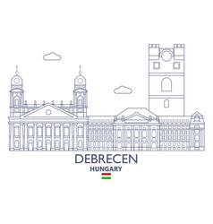 Debrecen city skyline vector