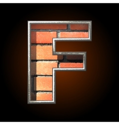 Brick cutted figure f vector