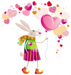 Valentine's day hare vector image