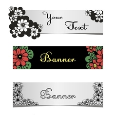 Stylish banners for web sites vector