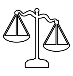 Scales of justice line icon vector