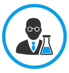 Chemist flat icon vector