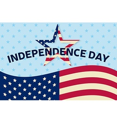 Independence day greeting card flyer independence vector