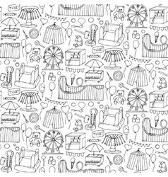 Attraction doodle sseamless pattern vector