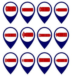 Badges with torpedoes vector