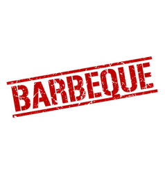 Barbeque stamp vector
