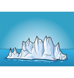 Cartoon ice berg vector