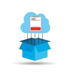 Cloud ssd disk connection design graphic vector