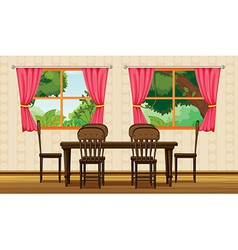 dining table and chairs vector image vector image