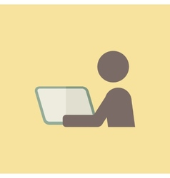 Distance learning icon vector