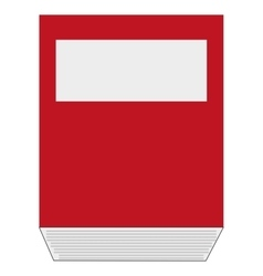 folder book flat icon vector image