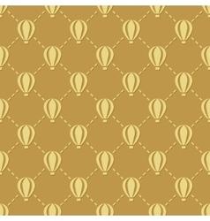 hot-air balloon seamless pattern vector image