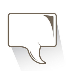 isolated comic speech bubble vector image