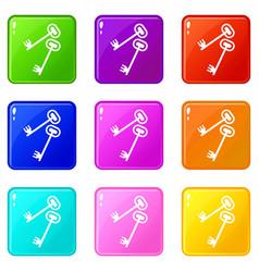 Keys set 9 vector