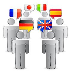 Languages concept vector image