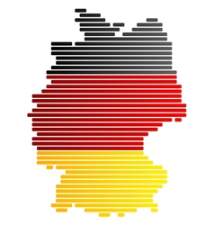map and flag of germany vector image vector image