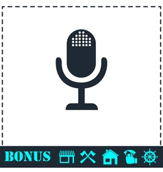 Microphone icon flat vector