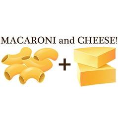 Raw macaroni and cheese vector