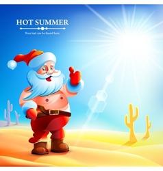 Santa claus hot in summer vector